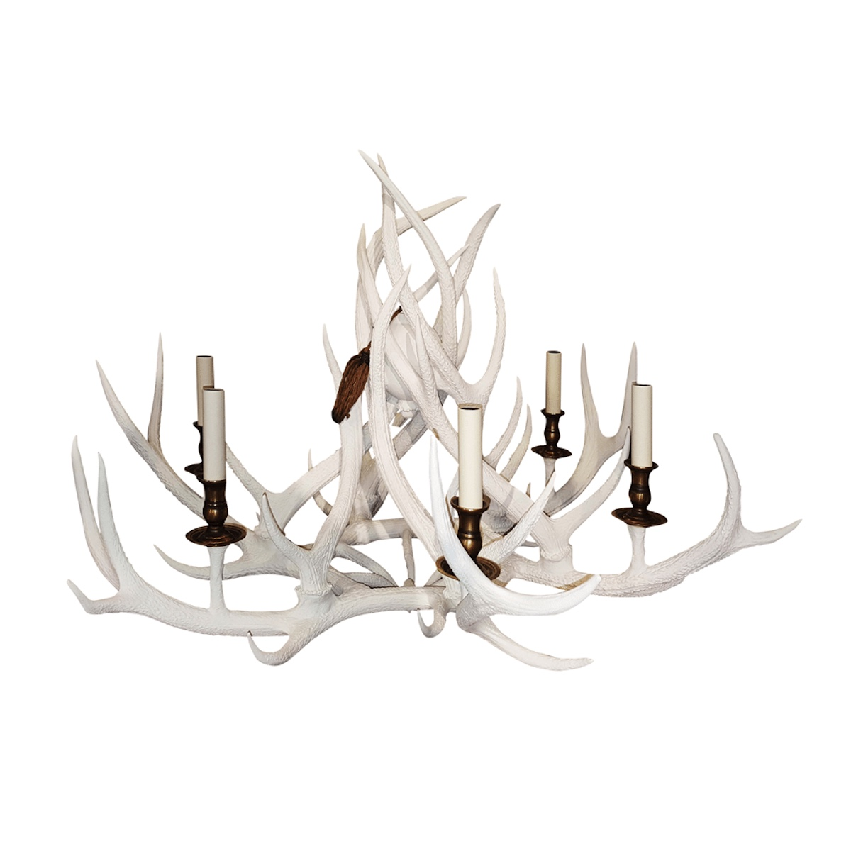 Real Scottish Highlands Ceiling Lighting - Red Deer Antler Painted Chandelier